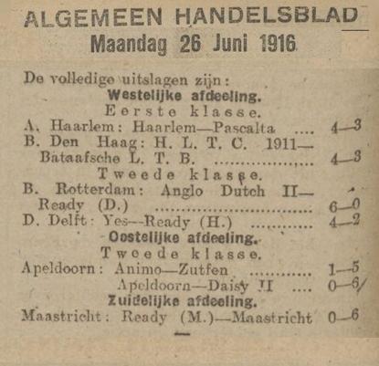 Competitie 1916
