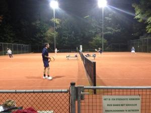 tennis met licht