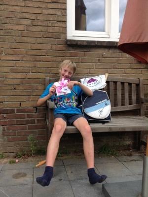 Niels wint!
