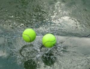 Tennis in de regen